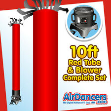 Red Tube AirDancer® & Blower Set 10ft Tube Man Inflatable Dancing Tube Man