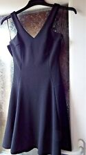 RIVER ISLAND BLACK DRESS, SLEEVELESS, FULL SKIRT, SIZE 6, BNWT