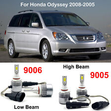 4PCS Combo 9005 HB3 9006 HB4 LED Headlight Kit Bulbs For Honda Odyssey 2008-2005