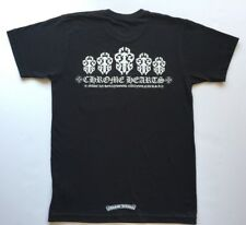 Chrome Hearts Daggers New Black T-Shirt W/White Print 100% Authentic Medium