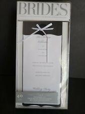 Printable Wedding Program Kit 40 DIY Bridal Magazine BRAND NEW Black & White