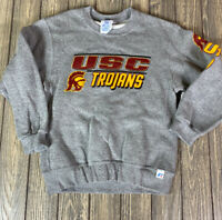 Russell Athletics Youth USC Trojans Crewneck Sweatshirt Size Small Gray Red
