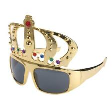 Novelty Girls Gold Queen Crown Shaped Sunglasses Funny Eye Glasses Costume