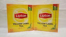 2 x 100 Beutel Lipton Tee yellow Label tea - 2 x 200 g - schwarztee aus England