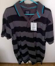 x3 Tshirts - Small -  Black / Black / Black & Grey Striped - BNWT