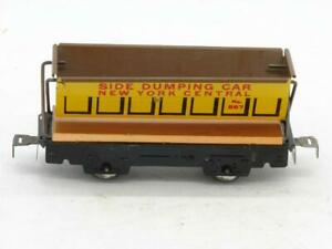 Marx Trains O Gauge 567 New York Central Side Dump Car Rivet Tab Couplers Nice