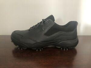 ECCO Strike Spikes Golf Shoes Gore Tex Men's Size 6-6.5 (EU 40) Black