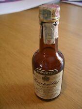 1956 Hiram Walker Canadian Club Whiskey Glass Mini Bottle/10th Pint/Paper Label