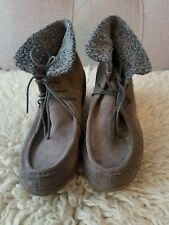 Camper Ash Grey Wedge Booties, Size 40