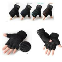 Mens M-XL Weight Lifting Gym Gloves Workout Wrist Wrap Sports Training Gloves