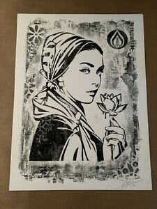 Shepard Fairey Stencil Series Natural Spring Signed Obey Giant