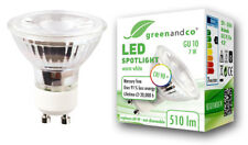 Greenandco LED spot cri90+ flimmerfrei gu10 7w 510lm blanco cálido 36 ° emisor