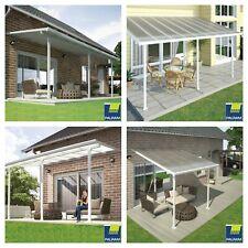White Patio Cover Outdoor Garden Veranda Shelter Sun Shade Canopy Rain Cover