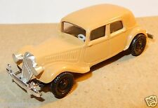 rare MICRO BREKINA HO 1/87 CITROEN TRACTION AVANT 15 SIX MARRON CLAIR NO BOX