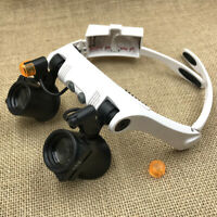 Austauschbare kalte und warme LED-Licht Brille Lupe Schmuck Uhrmacher Lupe