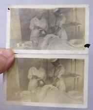 Vintage Photos Nurses Administering Ether to A Patient 1900s