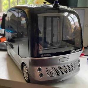 1/18 Xiamen Jinlong APOLONG driverless bus model DIECAST MODEL Silver