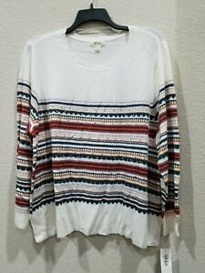 STYLE & CO Women's PLUS Size 1X Designer Sweater**Beautiful Design & colors*NWT*