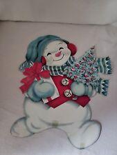 Vintage Snowman Christmas Paper Decoration