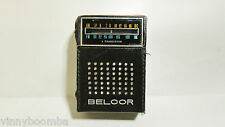 VINTAGE TRANSISTOR RADIO WITH CARRY CASE  BELCOR 9 TRANS. FM/AM-AFC TR-2008 USA