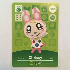 Chrissy 300 Animal Crossing Amiibo Card Series 3 - Never Scanned & Genuine