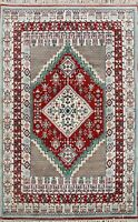 Geometric Red 4x6 ft Moroccan Oriental Area Rug Hand-Knotted Wool Tribal Carpet
