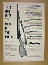 1957 Marlin Model 336 Carbine & Rifle 5 Models photo zipper texan vintage Ad