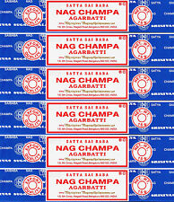 6 Packs X 15 Gram Nag Champa Boxes Original Incense Sticks - 90 Grams Total