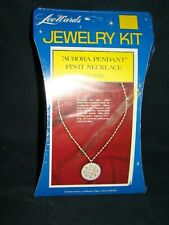New Vtg Aurora Pendant Pin-It Necklace Lee Wards Jewelry Kit Craft Making