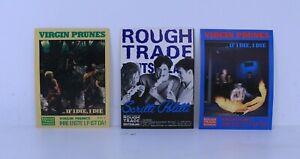 VIRGIN PRUNES (x2) SCRITTI POLITTI (x1) Rough Trade Germany Stickers 1982 Promo