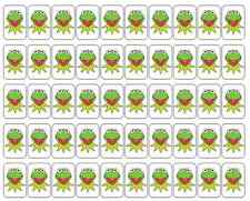 """50 Kermit the Frog Envelope Seals / Labels / Stickers, 1"""" by 1.5"""""""