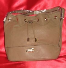 NINE WEST Original Hobo women bag new metalic coffe extendable handle  FREE GIFT