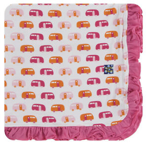 NEW Kickee Pants Ruffle Toddler Blanket in Natural Campers