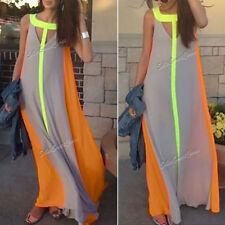 Summer/Beach Striped Chiffon Women's Dresses