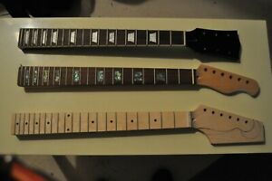 Three new Electric Guitar necks,Gibson SG,Fender Strat,and an unfinished Fender