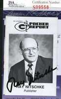 Ray Nitschke 1989 Packers Schedule Card Jsa Coa Authentic Autograph Hand Signed