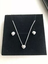 925 Silver Diamond Necklace And Earring Set