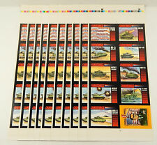 Lot of (10) 1991 Crown Landforce Series 2 Set Uncut Sheets (#1-8 + Powell Card)