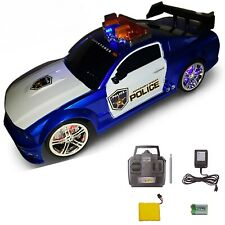 Remote Control Toy Sports Car for Boys, Lights & Sirens RC Police, Perfect Gift!