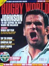 RUGBY WORLD MAGAZINE SEPTEMBER 1999 - SARACENS, HMP MOORLAND, MARTIN JOHNSON