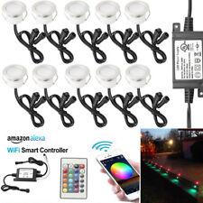 10Pcs 45 mm RGB LED de luces de paso de Cubierta Controlador WIFI para teléfono inteligente Alexa Temporizador