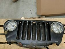 Jeep Wrangler TJ Black OEM Front Grill With Headlights/Harnesss+AC Condensor