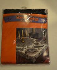 Halloween Black  Lace Table Cloth 60 X 84 NIP Happy Halloween