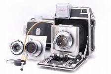 【Rare set!】 Linhof Technika 6x9 Medium Format Camera w/Linhof Lensx3 JAPAN Y3346