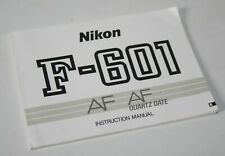 Nikon F-601 - Vintage Camera Instruction Manual