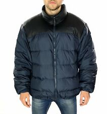 Men's The North Face 700 Down Puffer Jacket In Black / Blue Size UK XXL
