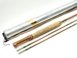"Phillipson Peerless ""63"" Bamboo Fly Fishing Rod. 7 1/2' 5wt. W/ Tube and Sock."