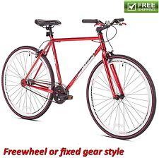 "Kent Fixie Bike 700C Red Men's Flip Flop Hub Cruiser City Road Bicycle 20"" Frame"