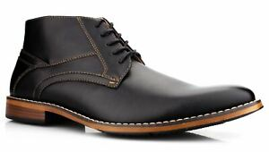Mens Formal Smart Casual Lace Walking Hiking Work Ankle Chukka Boots Shoes Size