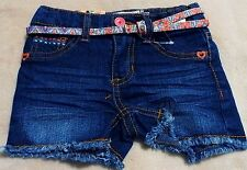 SQUEEZE Girl's 2T Dark Stone Colored Jean Shorts With Colorful Belt~ Sequiens